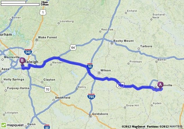 fayetteville to greenville nc