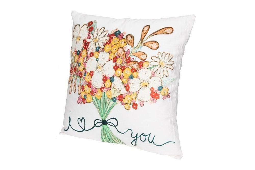 I Love You Bouquet Pillow - Default Title