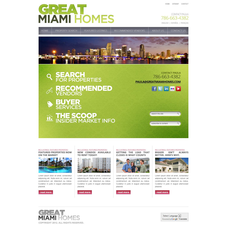 Greatmiamihomes Com Real Estate Website Miami Houses New Condo