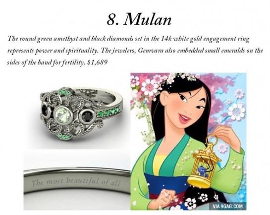 Disney Inspired Engagement Rings Mulan disney Pinterest