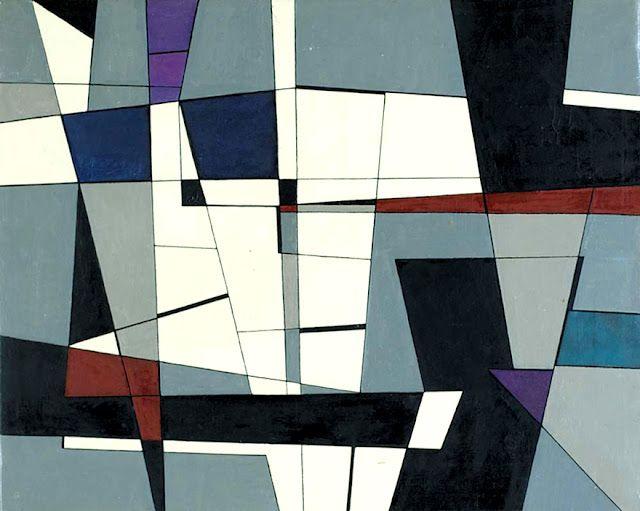 """Geometrico"" by Roberto Crippa, 1950.  Italy."
