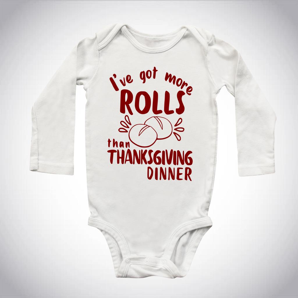 More Rolls than Thanksgiving dinner Infant Bodysuit #thanksgivingoutfit