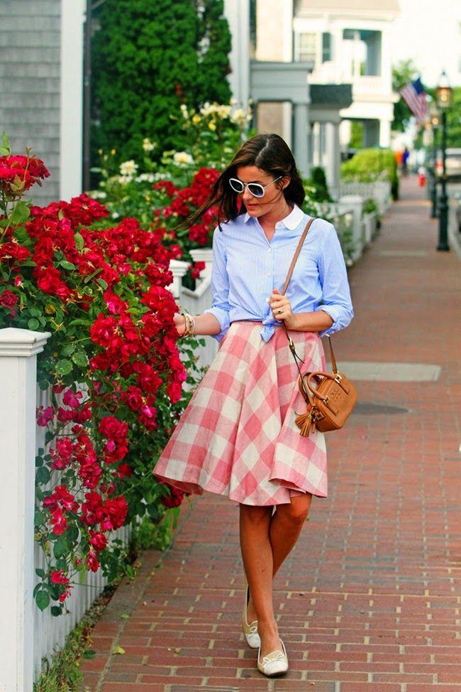 Edgartown, Martha's Vineyard Preppy summer outfit