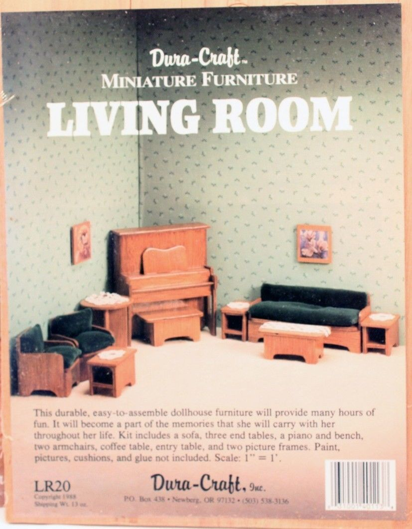 miniature dollhouse furniture woodworking. 4 New Dura Craft Miniature Dollhouse Wood Furniture Kits Complete Rooms | EBay Woodworking