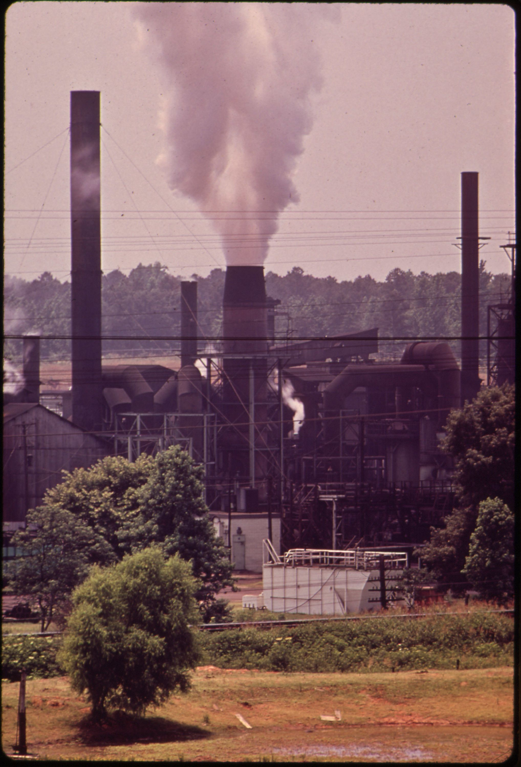 Smoke from the Atlas Chemical Co. Covers Neighboring