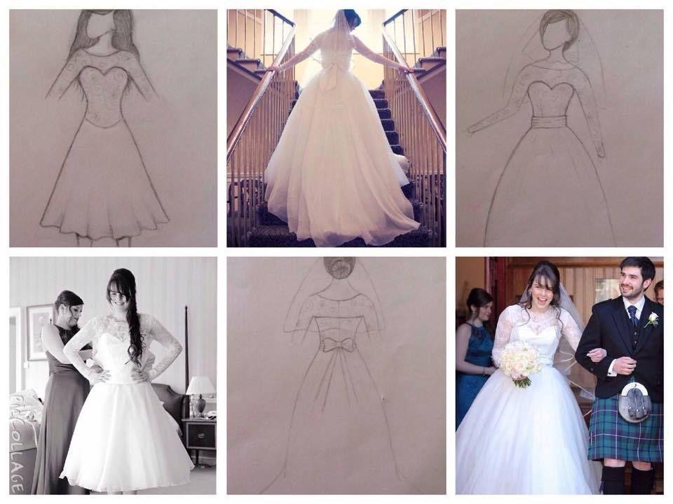 Kirsty Keys wearing a bespoke bridal gown- designed and handmade by Eleganza Sposa #MadetoMeasure #EleganzaSposa #EleganzaIconica #Scotland #weddings #design #MadeinBritain #couture #bespoke #weddingdress #bridaldesigner #bridalboutique #glasgow