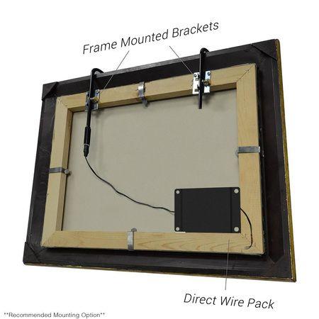 16 Tru Slim Hardwired Led Picture Light Black Lightsbattery Operatedgallery Lighting