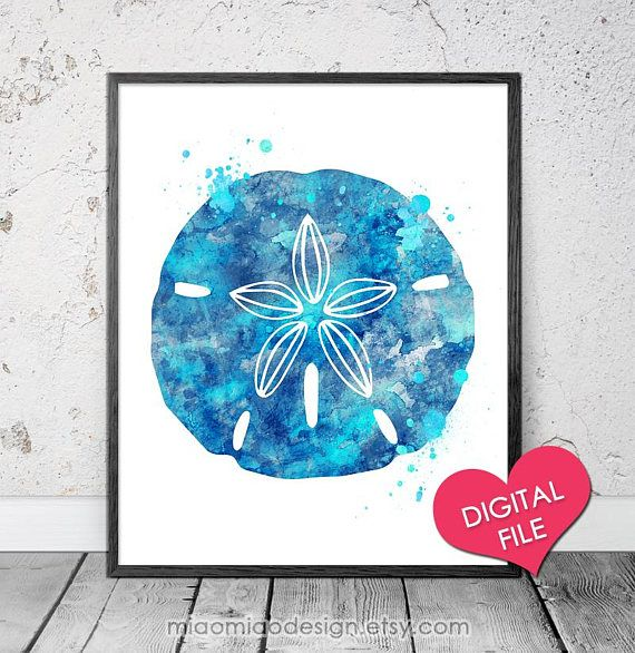 Beach sand dollar art printable art digital download sand dollar beach sand dollar art printable maxwellsz