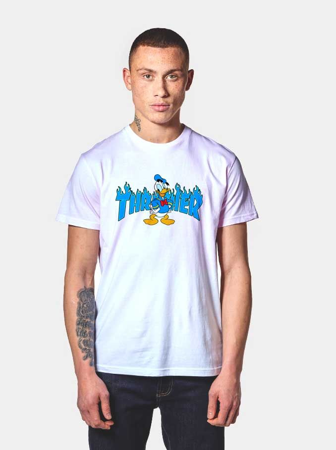 431891c8 Donald Duck Thrasher Collab T Shirt | Men in tees | Shirts, Tumblr t ...