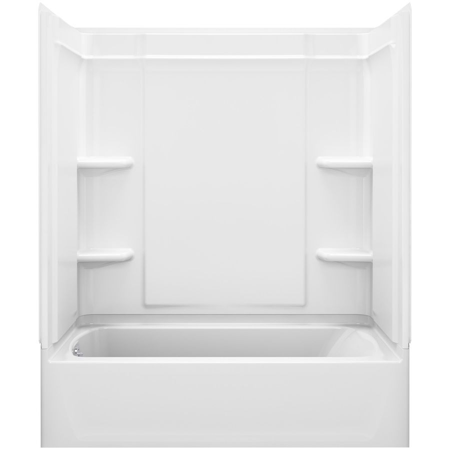 Sterling Ensemble White Vikrell Wall And Floor 4-Piece Alcove ...
