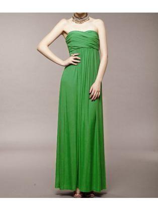 Pleated Waist Twisted Knot Maxi Dress