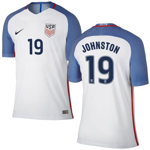 46d9e50aaf7 White Home Julie Johnston Mens 2016-2017 Stadium Nike Authentic No.19 USWNT Soccer  Jersey