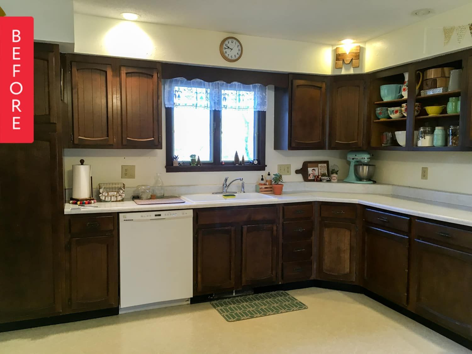Before After An Under 200 Creatively Colorful Kitchen Makeover Kitchen Colors Kitchen Cabinets Kitchen Makeover