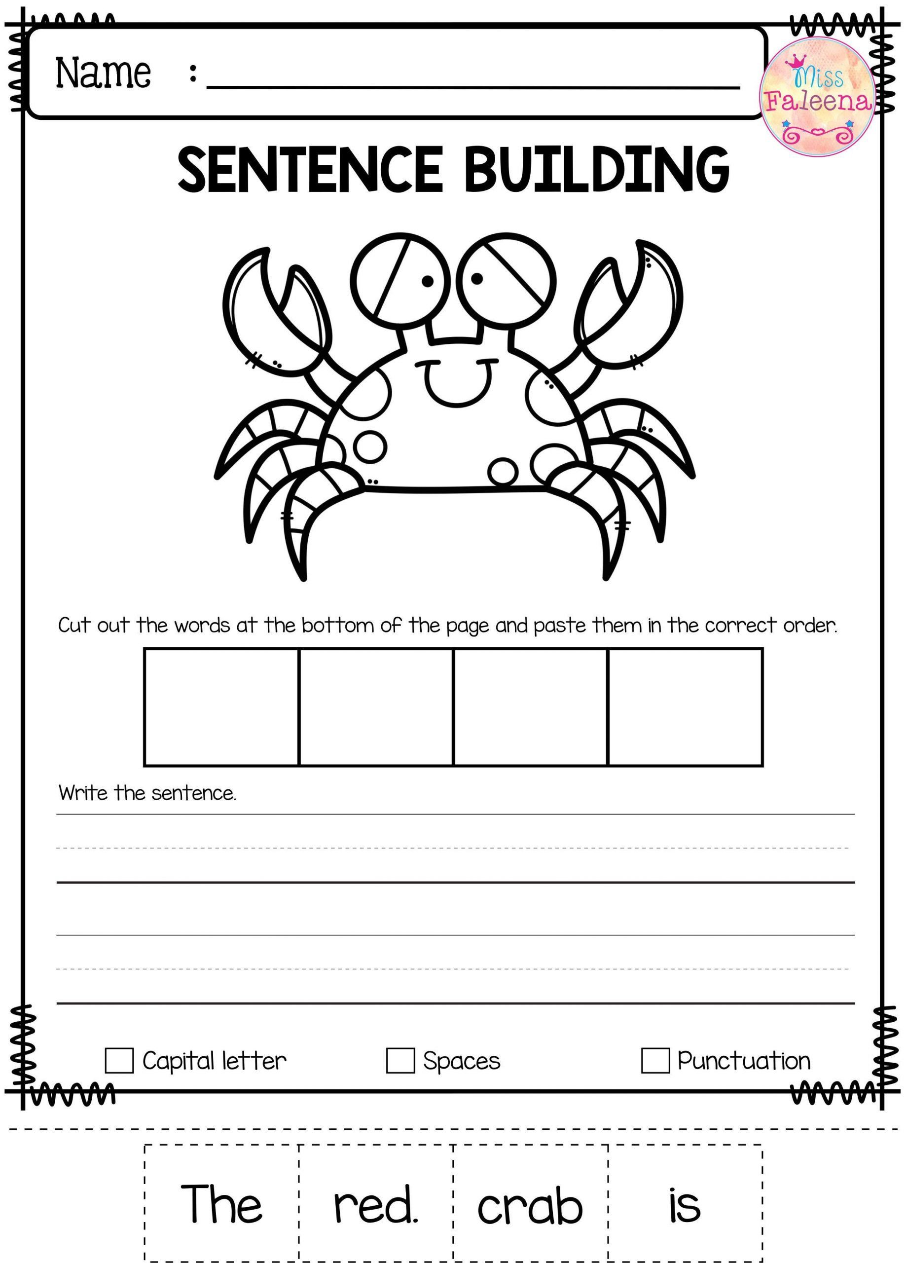 Free Printable Sentence Writing Worksheets Free Sentence