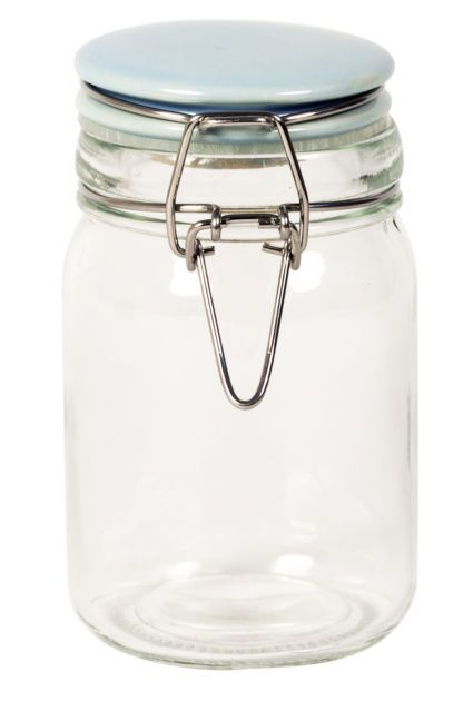 Airtight Cookie Jar Best Retro 250Ml Glass Clip Top Airtight Spice Herb Jam Sweets Storage Inspiration