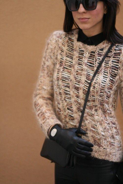 Rag sweater and Celine bag