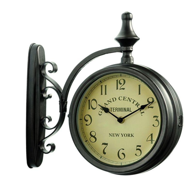 Horloge de gare grand central double face horloge d for Horloge murale de gare