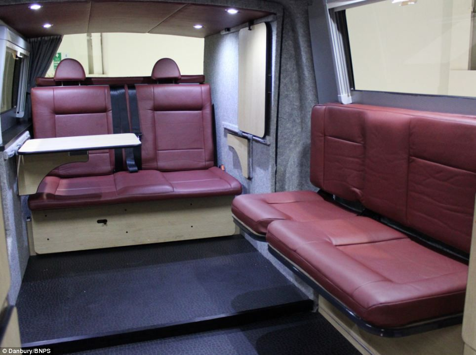 Spacious This Image Shows The Camper Vans Interior Before Its Conversion Into Bigger Version