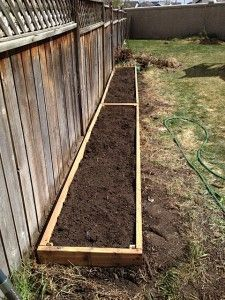 how to build raised flower beds along fence - Google Search | Small Vegetable Garden Against Fence Raised Beds Designs Html on