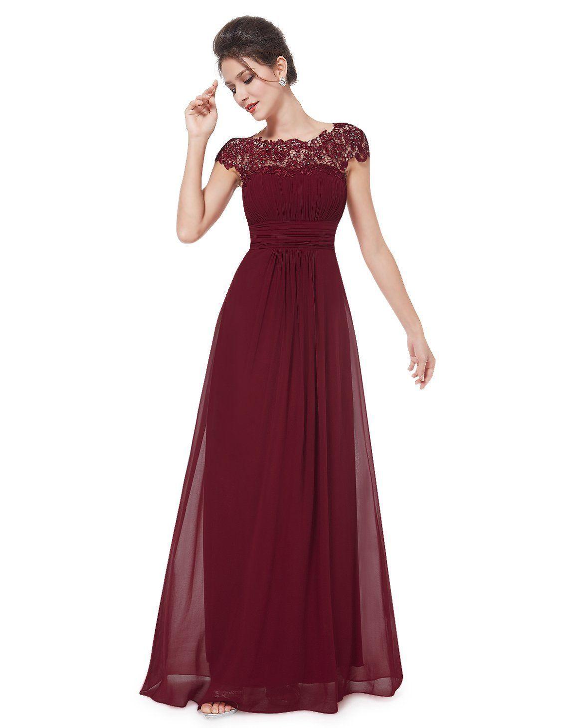 lange abendkleider  Vestidos color vino largos, Vestidos de noche