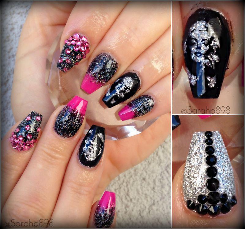 Marilyn Monroe nails | Nails I Admire | Pinterest | Crystal nails ...