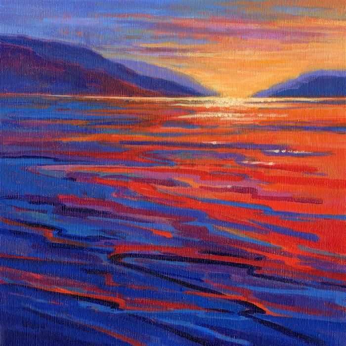 acrylic painting | Where the Whales Play 5 | Ugallery Online Art Gallery