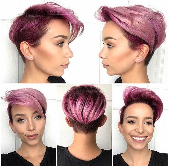 Like Parts Of The Cut And Color Hair Inspiration Girl Short Hair