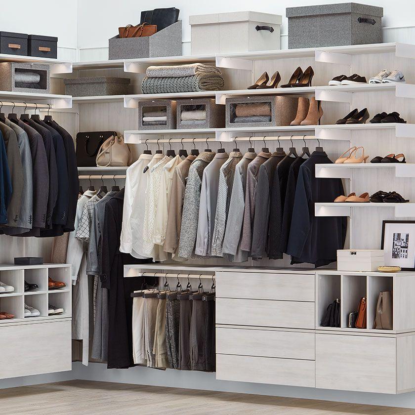 Master & Walk In Closet Ideas – Avera Custom Closet Design ...