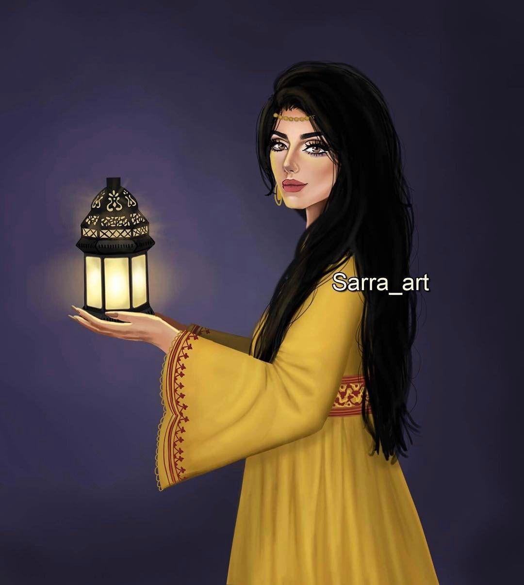 4 492 Likes 364 Comments Sara Ahmed Sarra Art On Instagram يانور الهلال أ قبل تعال فالشوق طال Sarra Art Cute Girl Drawing Beautiful Girl Drawing