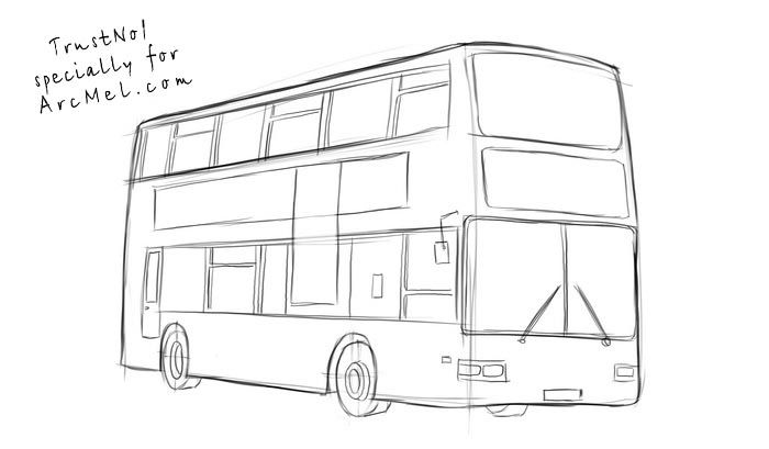 how to draw a bus step 4