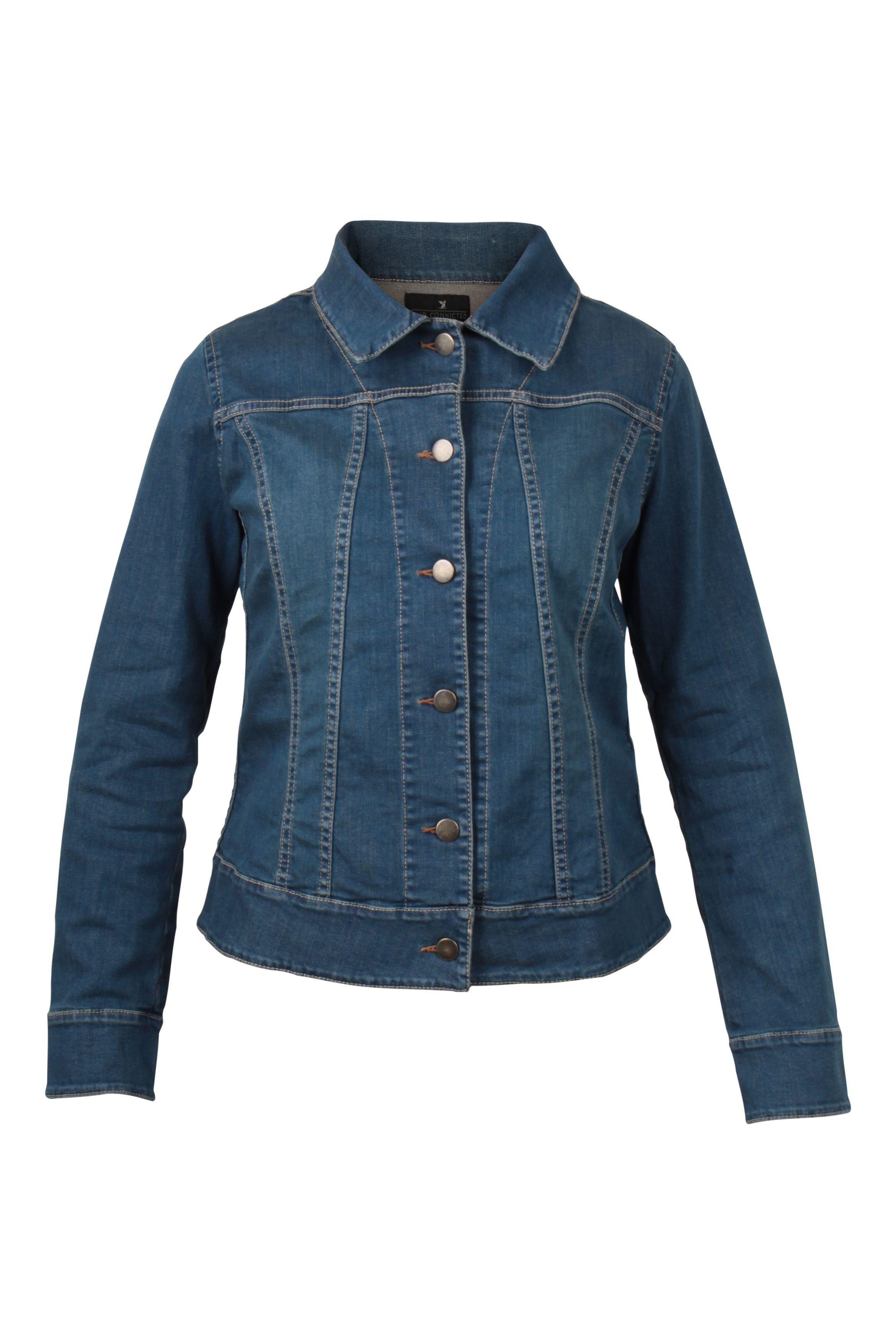 Jeansjacke mit elasthan