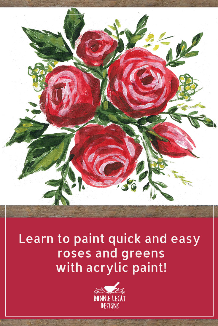 How To Paint Abstract Roses Wie Malt Man Abstrakte Rosen V154 Youtube
