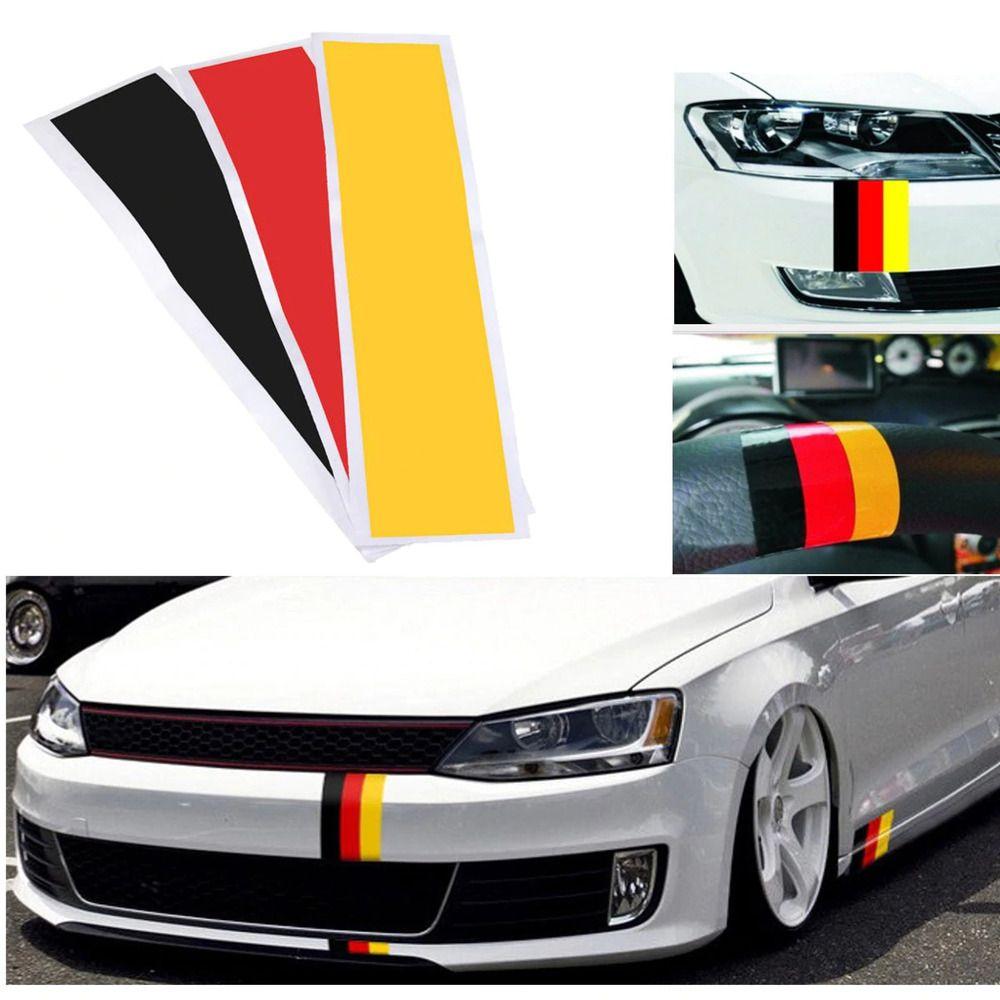 Germany Flag Stripes Stickers Decals Vinyl For German Car Body Bumper Side Luckystickers En 2020 Vinilos Para Autos Volkswagen Jetta A2