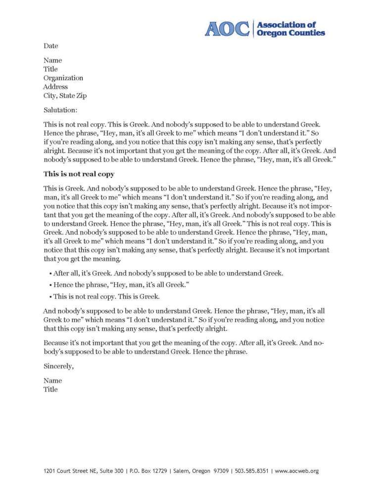 6 Company Letterhead Examples Company Letterhead Examples