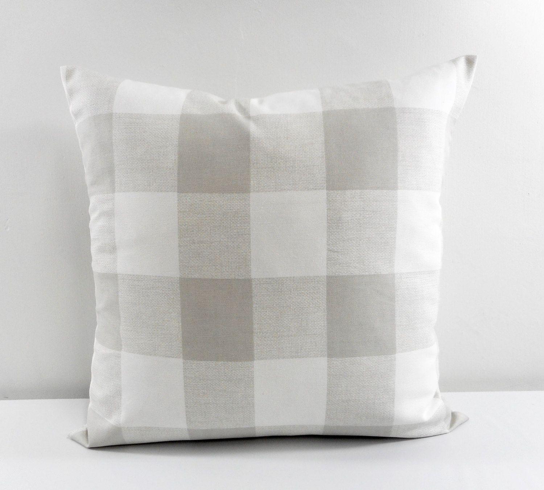Farmhouse decor grey buffalo check pillow sofa pillow
