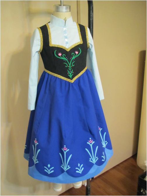 Instructions For Anna S Dress From Frozen Using Simplicity