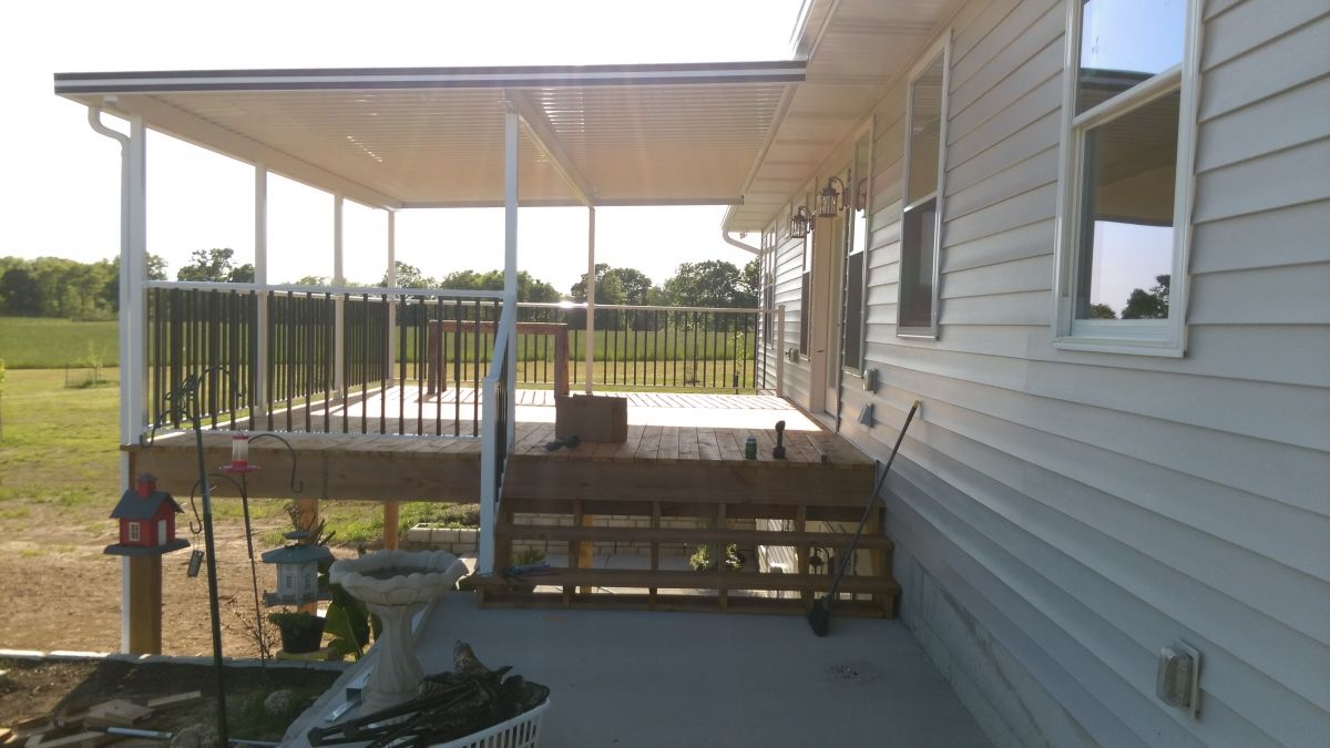 permanent deck awnings - Google Search | Covered decks ...