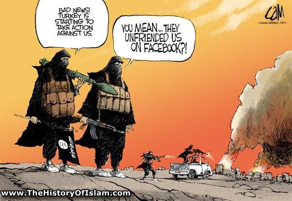TheHistoryofIslam.com cartoons from across the world. Saudi and Isis are one.