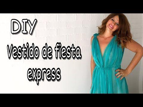 0c2e4225b4 DIY Cómo hacer el vestido de fiesta más fácil del mundo - YouTube ...