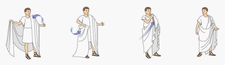 how to put on a toga