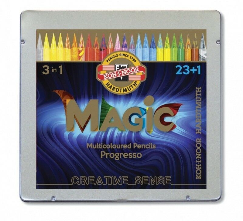 KOH-I-NOOR Progresso Woodless Colored Pencils Magic multicoloured 24 colors 8774