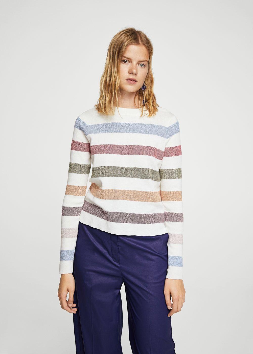 Jersey algodón rayas - Cárdigans y jerséis de Mujer  824aa08a6d8e7