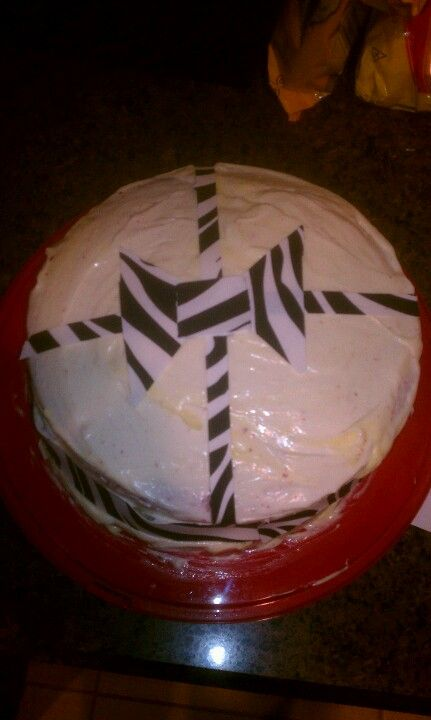 Red velvet cake with cheesecake center and cream cheese frosting!