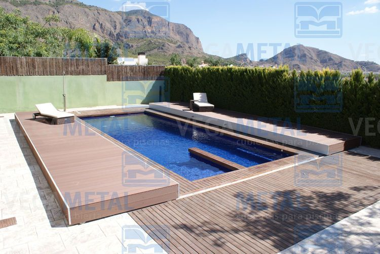 Wood pool cover google search motorized pool covver - Covering a swimming pool with decking ...