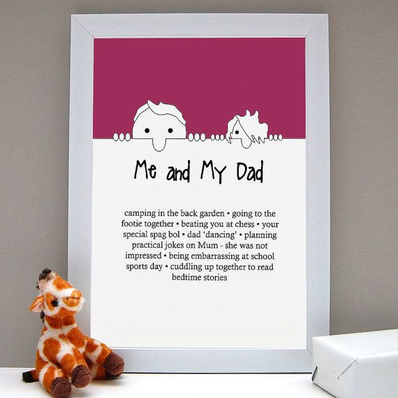 Personalised 'Me And My Dad Love' Print/ Father's