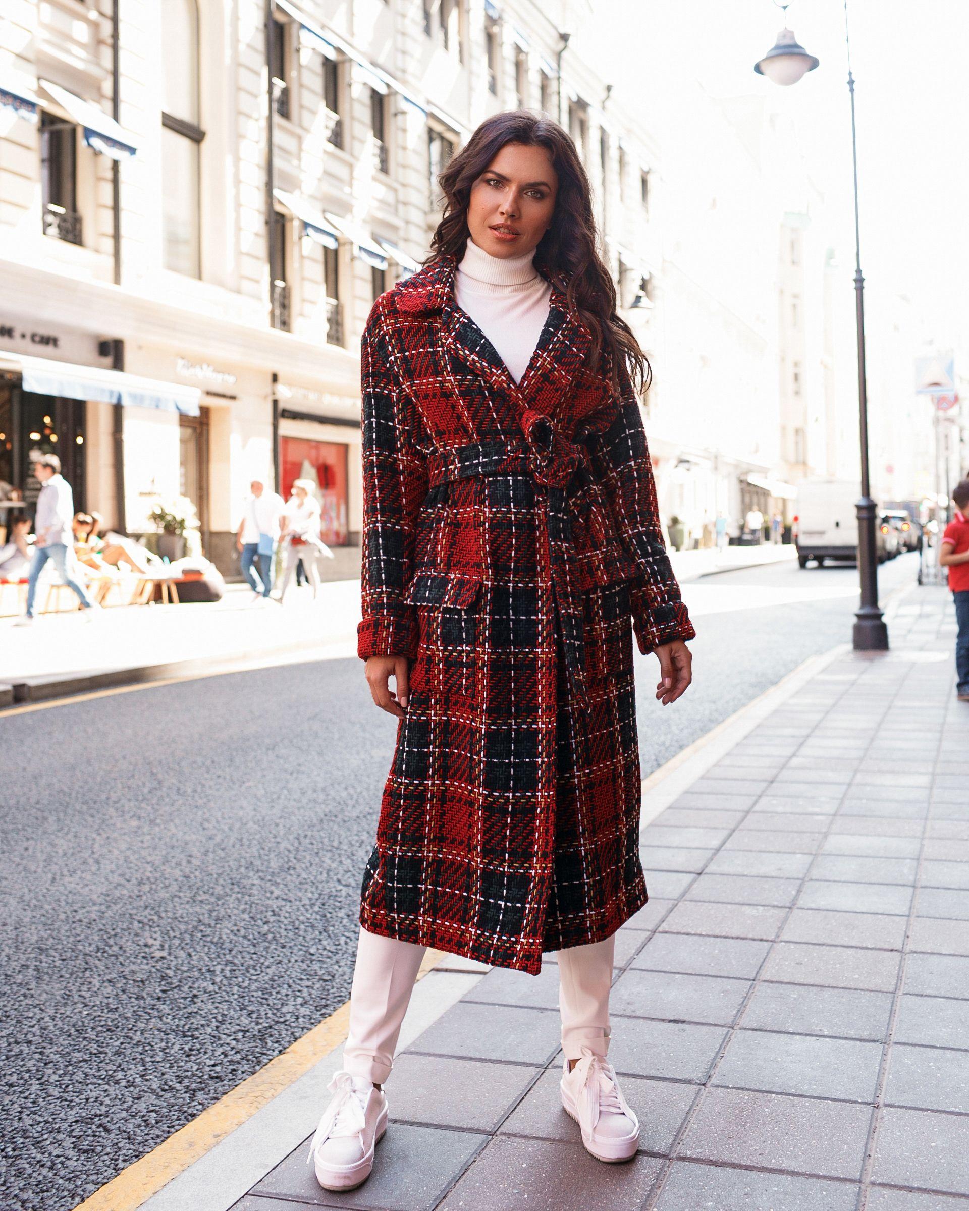 01c402ac3106 пальто в клетку, пальто в клетку 2018, пальто в клетку с чем носить ...