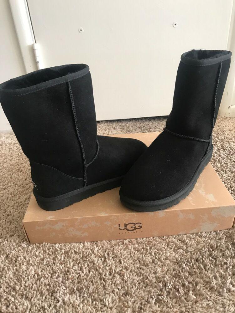mens black short ugg boots size 8 brand