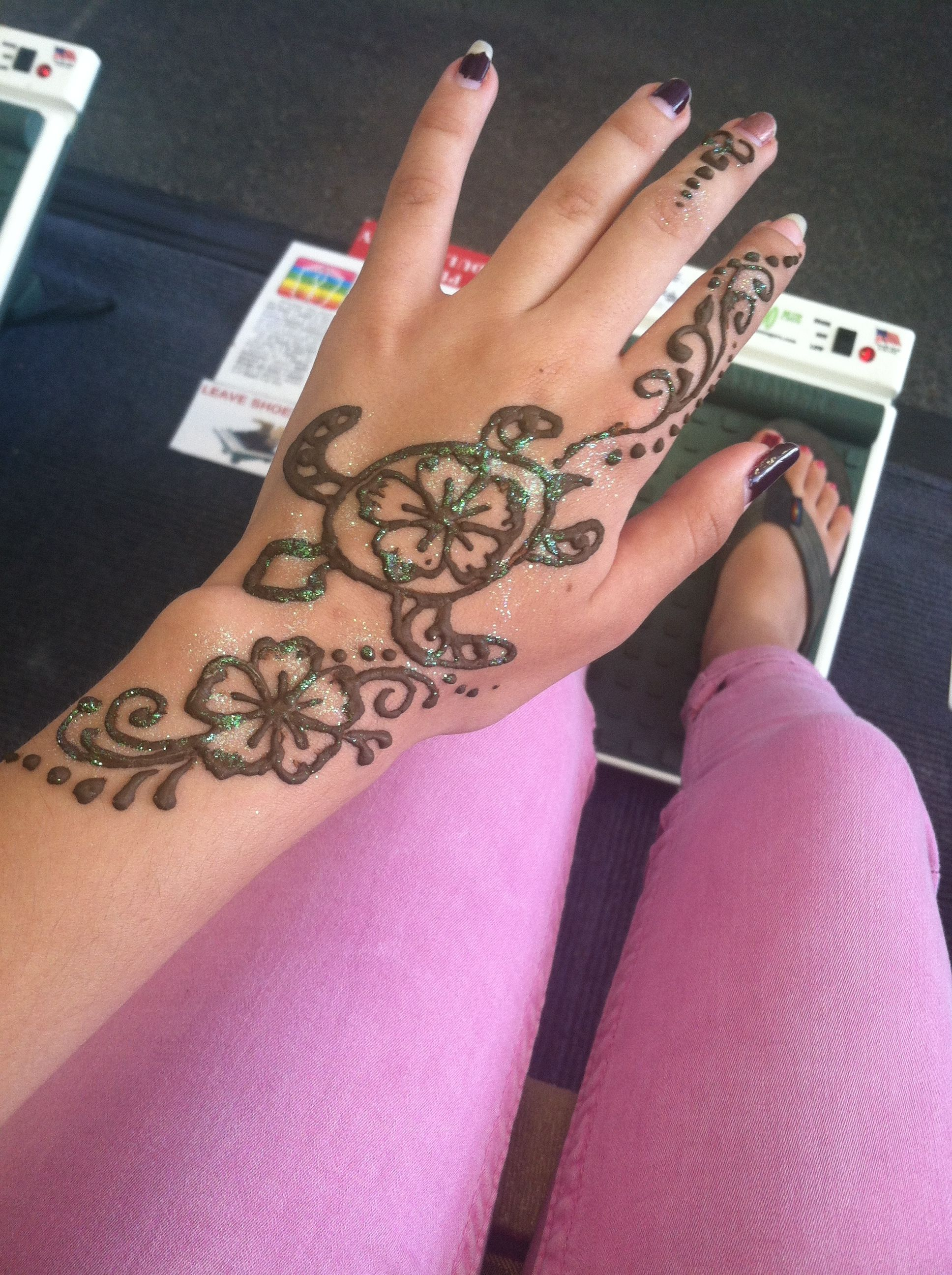 Small Henna Wrist Tattoos Sea Turtle And Lotus Infinity: Turtle Henna Tattoo @ The Del Mar Fair