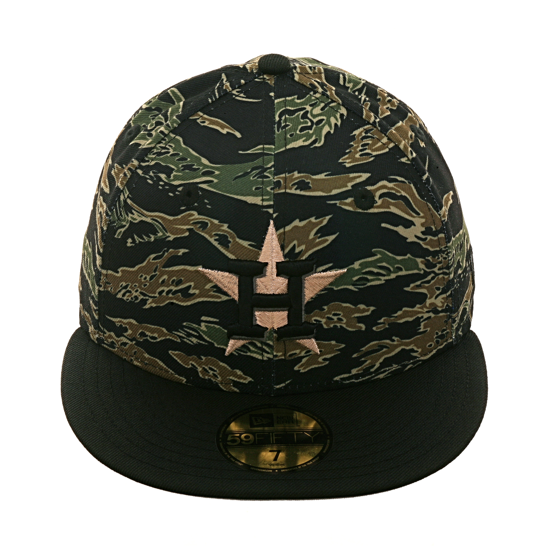 Exclusive New Era 59Fifty Houston Astros Hat - 2T Tiger Camo 7f6597ff1