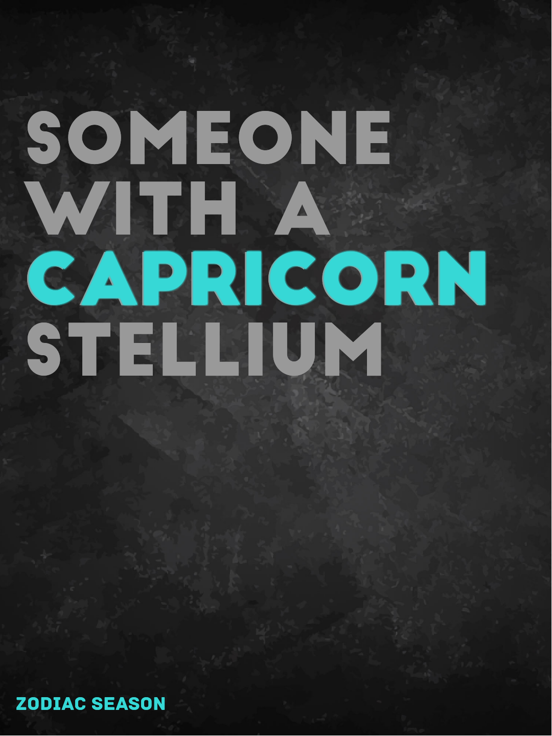 someone with a Capricorn stellium | The Zodiac | Capricorn, Zodiac
